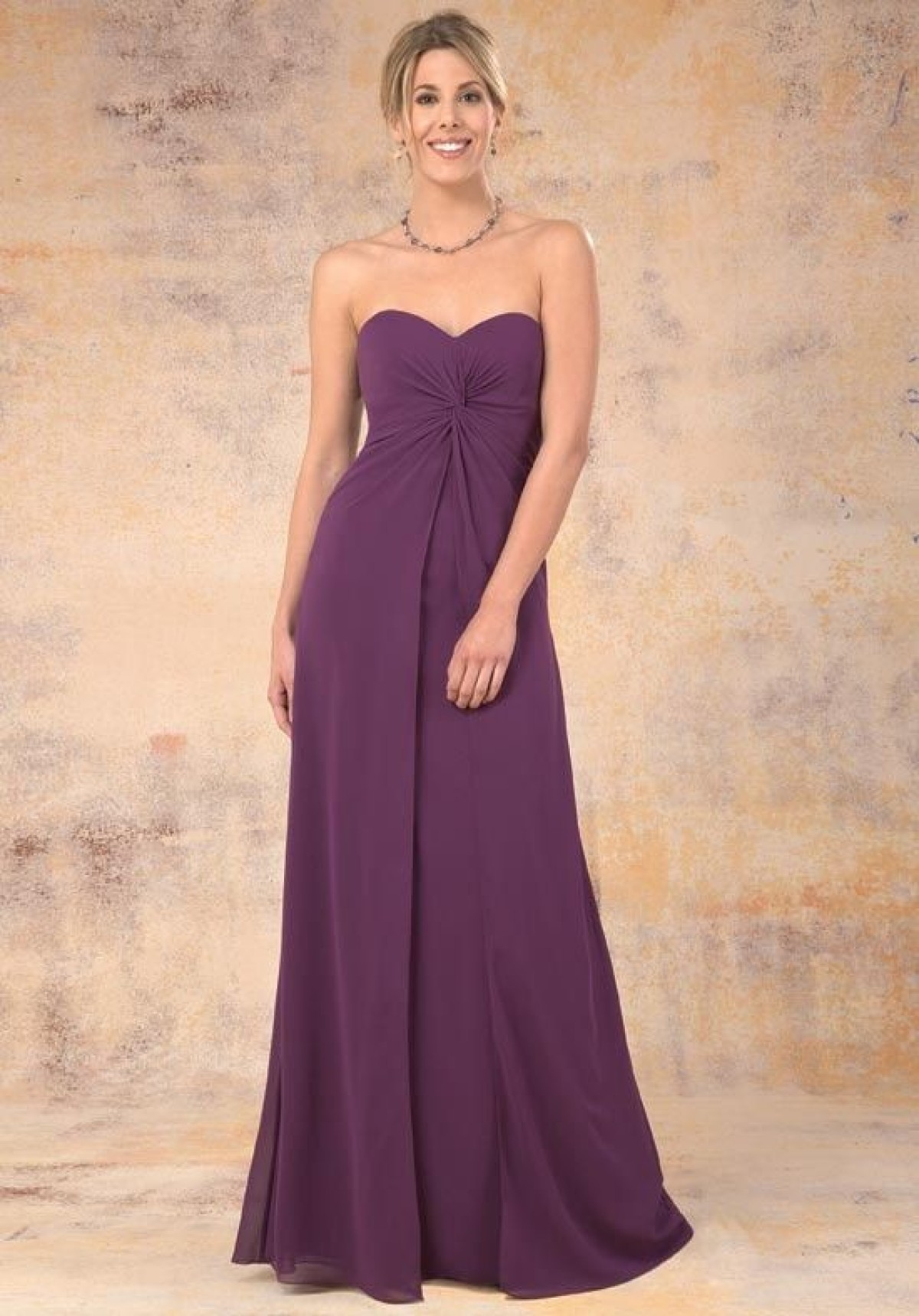 Chiffon empire line bridesmaid dress blessings of brighton bmd943604 bridesmaid dress bmd943604 full length cadbury purple chiffon empire line bridesmaid dress at ombrellifo Choice Image