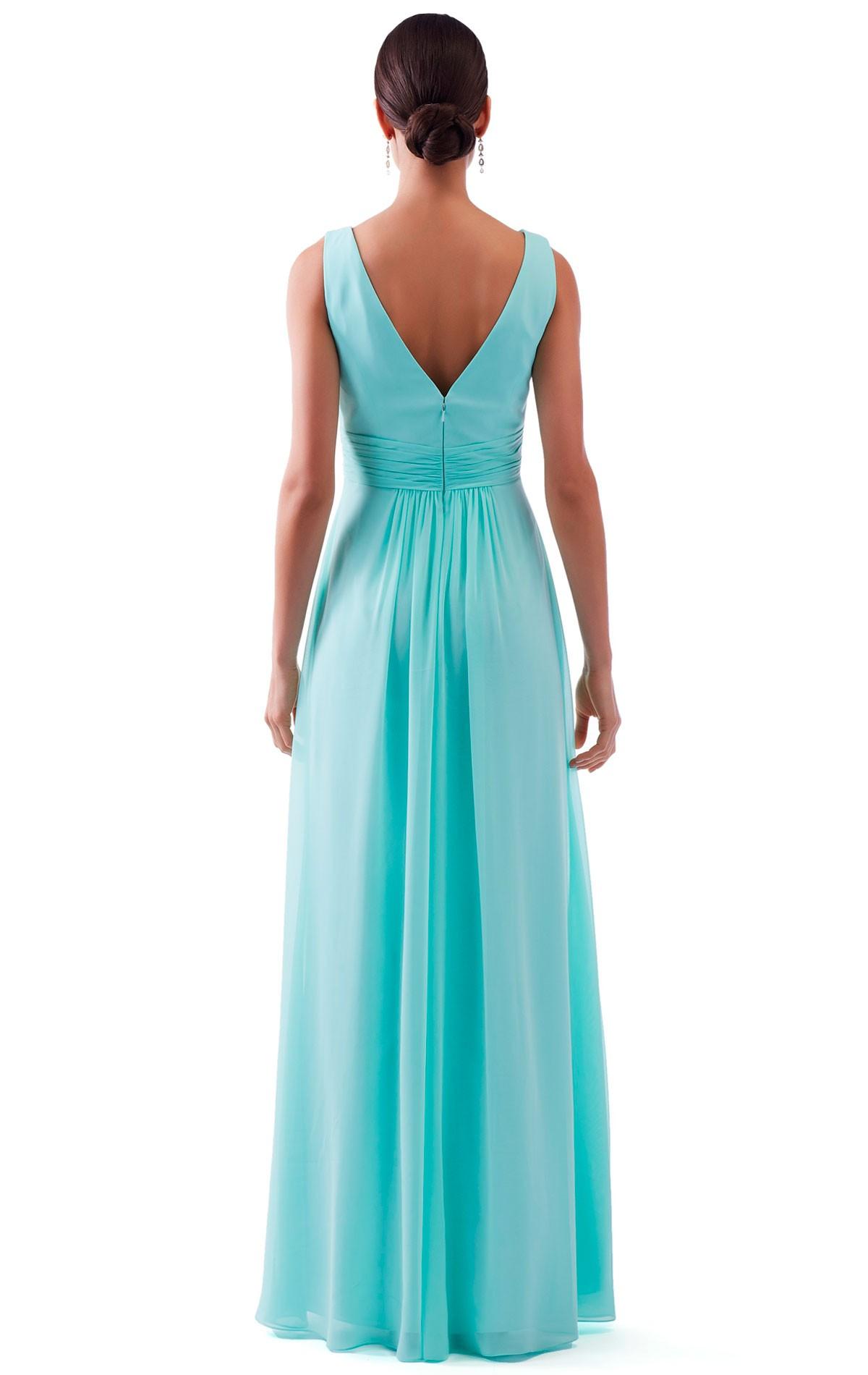 Bridesmaid dress venus bm1838 blessings of brighton bm1838 bridesmaid dress bm1838 full length mint green chiffon bridesmaid dress with v neckline ombrellifo Images