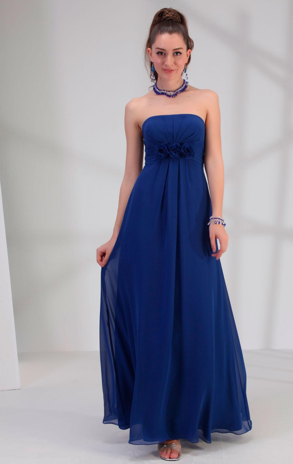 Venus bridesmaid dress bm1683 blessings of brighton bm1683 bridesmaid dress bm1683 full length royal blue chiffon dress with straight neckline and ombrellifo Image collections