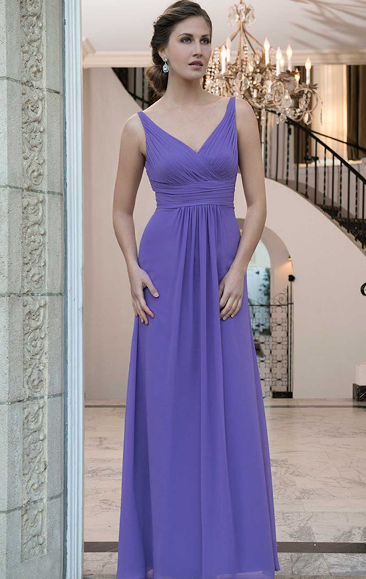 Chiffon Bridesmaid Dress with Straps | Blessings of Brighton