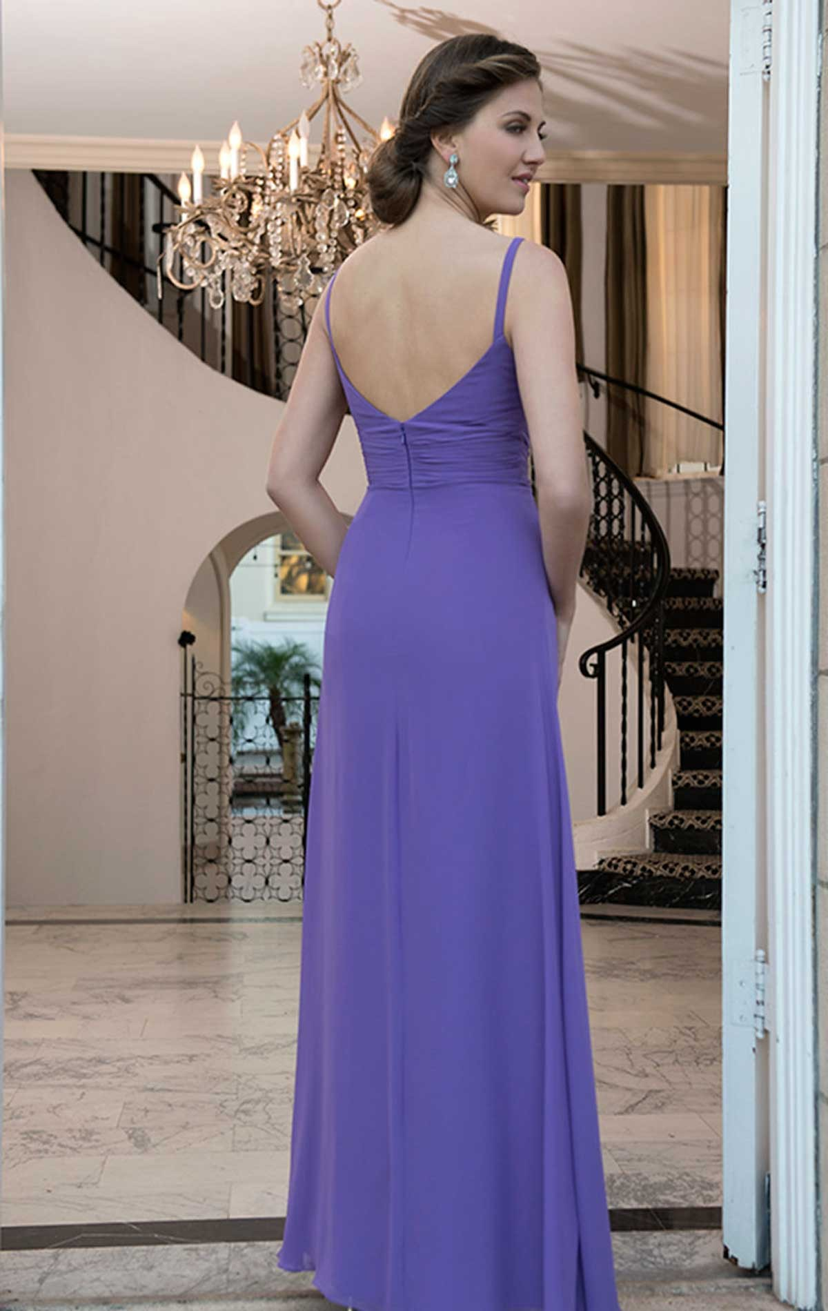Chiffon Bridesmaid Dress with Straps   Blessings of Brighton