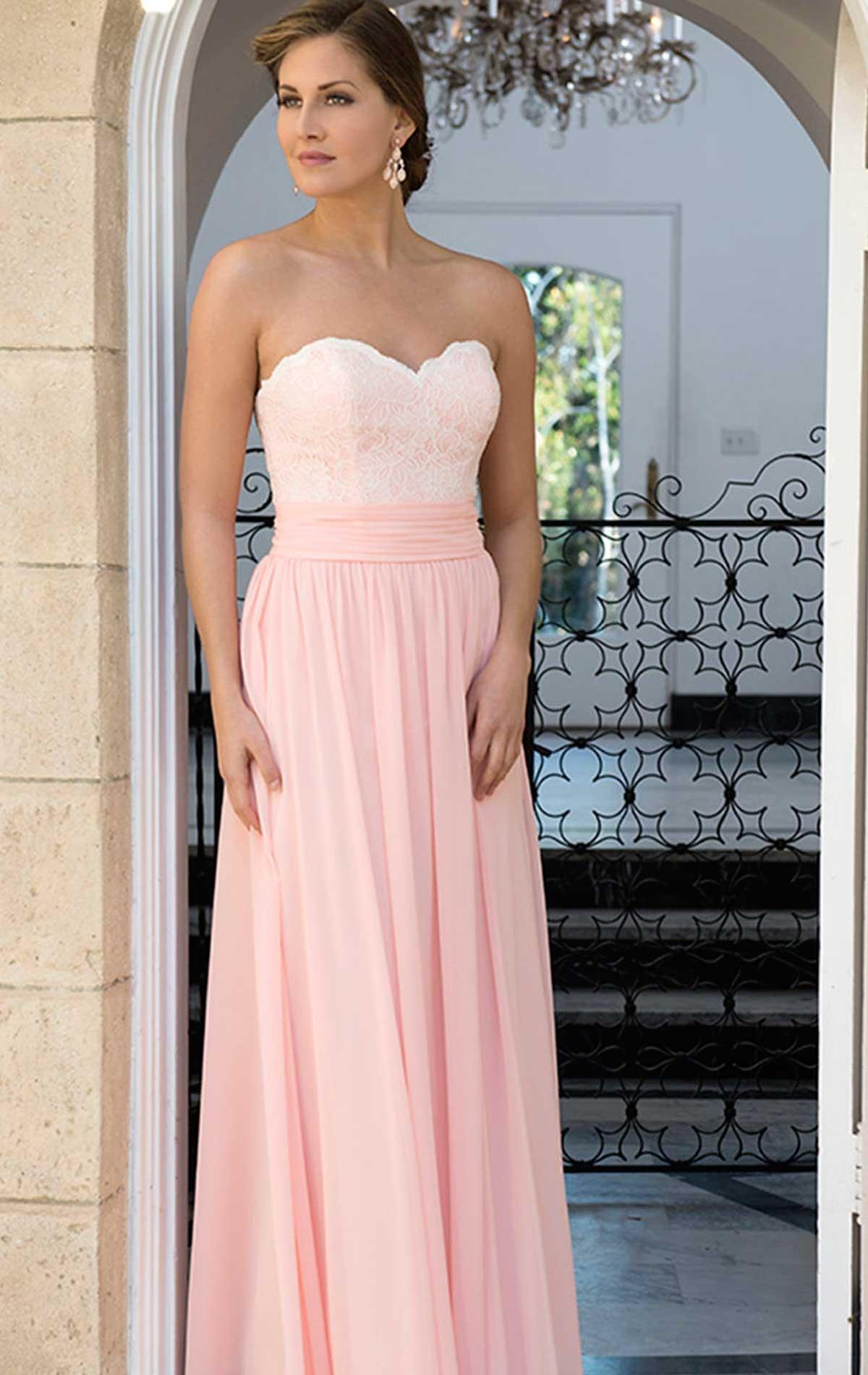 Chiffon & Lace Bridesmaid Dress | Blessings of Brighton