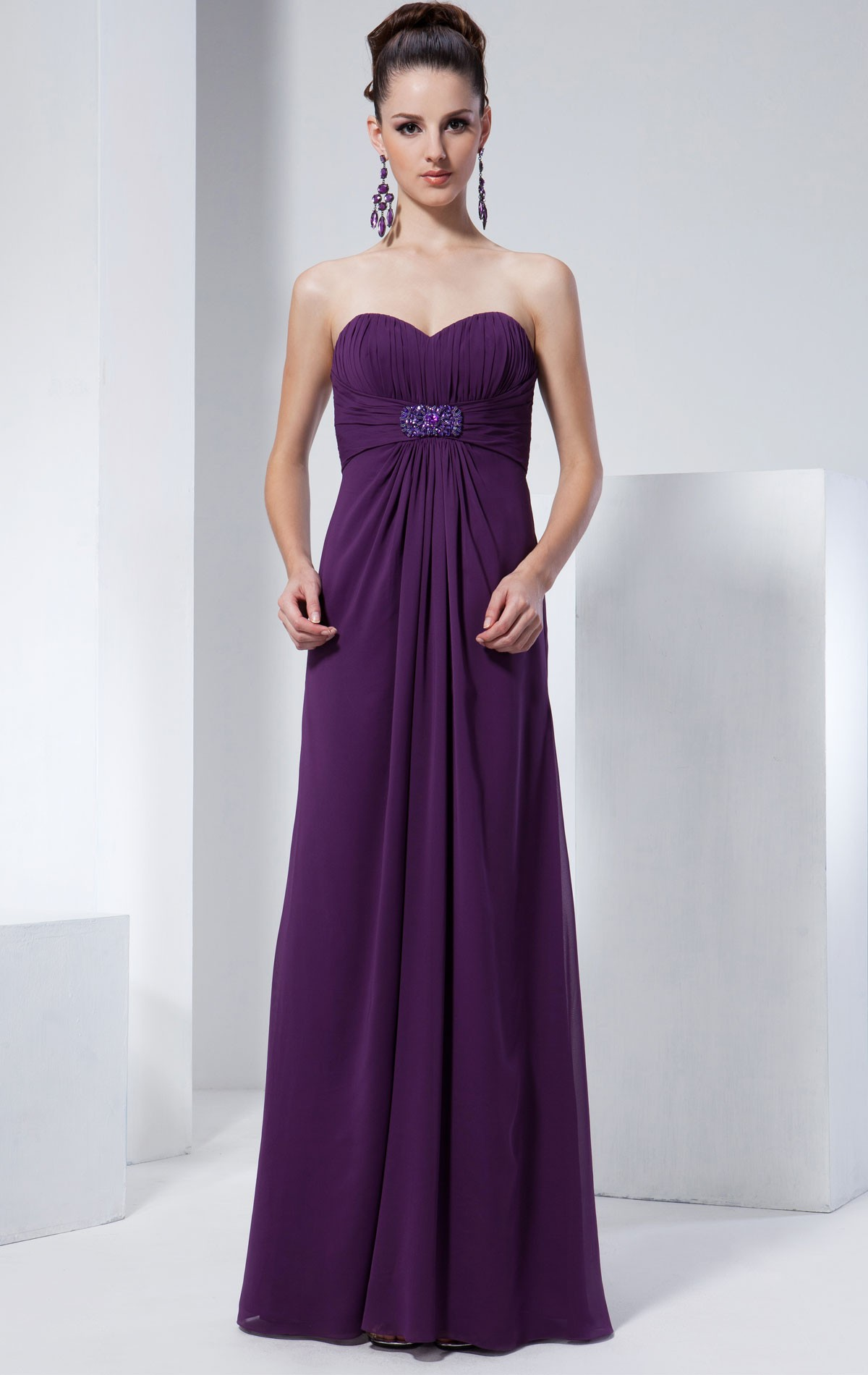 Venus bridesmaid dress bm1578 blessings of brighton bmd1578 bridesmaid dress bm1578 full length cadbury purple chiffon empire line bridesmaid dress with ombrellifo Gallery