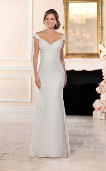 8e6bb5bbff6f Stella York 6477, Elegant Wedding Dress with Fitted Chiffon skirt &  Intricate Beaded Lace Bodice